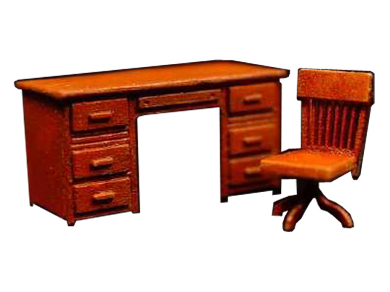 alter schreibtisch mit drehstuhl h0. Black Bedroom Furniture Sets. Home Design Ideas