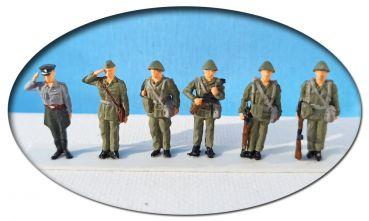 NVA, 5 MOT-Schützen mit Offizier, Spur H0, 1:87