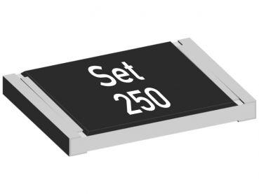SMD Widerstand Sortiment Set 250, 25 verschiedene Werte, je 10 Stück, Bauform 1206