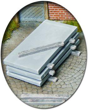 Betonplatten als Ladegut, 20 Stück, Spur 0 (Null), 1:45