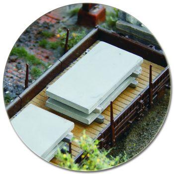 Betonplatten als Ladegut, 10 Stück, Spur H0, 1:87