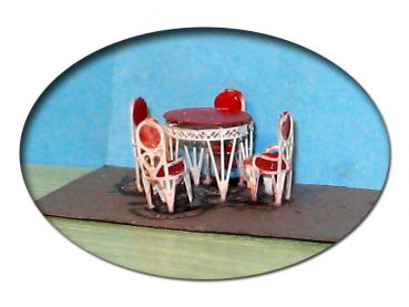 Bistrogarnitur Bistromöbel, Bausatz für Spur TT, 1:120