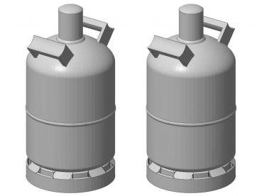 Gasflasche 11 kg, 2 Stück, Spur 1, 1:32