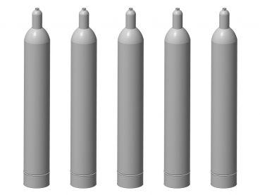 Gasflasche 33 kg, 5 Stück, Spur 1, 1:32