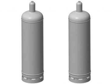 Gasflasche 50 Liter, 2 Stück, Spur 1, 1:32