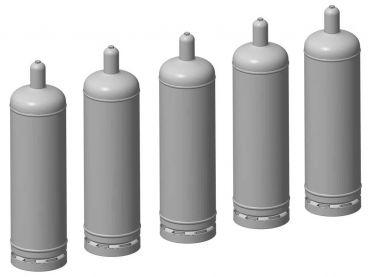 Gasflasche 50 Liter, 5 Stück, Spur 1, 1:32