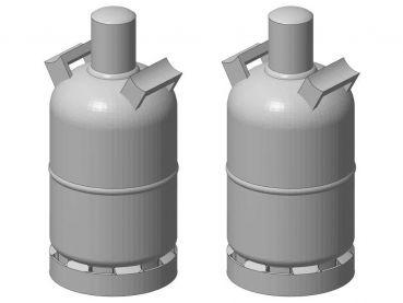 Gasflasche 5 kg, 2 Stück, Spur 1, 1:32
