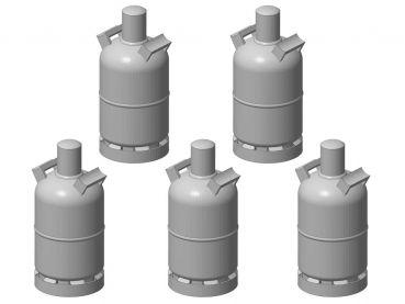 Gasflasche 5 kg, 5 Stück, Spur 1, 1:32
