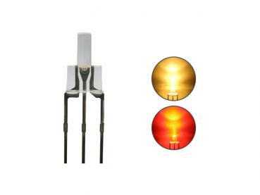Duo Bi-Color LED 2 mm klar 3pin Anode warmweiß / rot